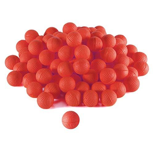 RUSTOO Recambio de Bala de munición Redonda, 100 Piezas de Recambio de munición de Espuma Redondas para reemplazar el Paquete de Bolas de Bala para niños, Juguete para niños (Rojo)