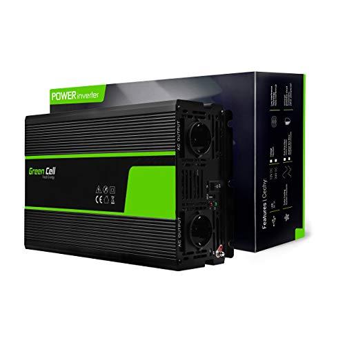 Green Cell® 3000W/6000W Modifizierte Sinus Spannungswandler Wechselrichter 12V auf 230V Modified Sine Wave Power Inverter Umwandler für Auto, Direktanschluss an Autobatterie inkl.