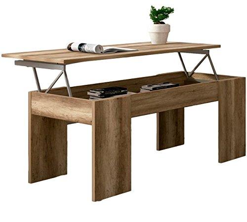 Studio Decor Julia Table Basse relevable en Bois 100/x 49,8/x 45,8/cm 100x49.8x45.8 cm Beige Cambria