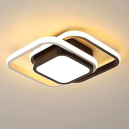 Topwor Moderna lámpara LED de techo para salón, regulable, 21 W, color de luz/brillo ajustable, lámpara de diseño moderna y elegante para...