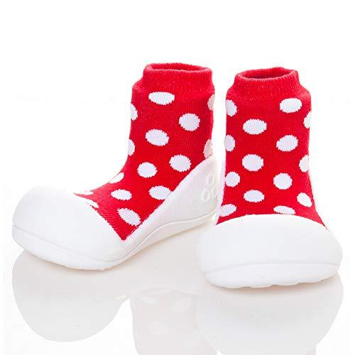 Attipas AD06-Rouge [de Polka Dot] [Atipasu] Chaussures bébé XL (13.5cm) :. 6 Rouge