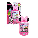 Minnie Bow-Tique Why Hello Cell Phone with Lights and Realistic Sounds for Kids, Features Minnie Mouse Phrases
