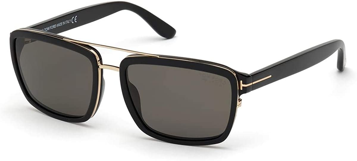 Tom Ford ANDERS FT 0780 Shiny Black Sunglasse 17 men Grey Safety and trust 140 58 New products world's highest quality popular