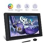 HUION 2.5K Kamvas Pro 24 Tableta gráfica con Pantalla, Monitor de Dibujo Gráfico con Pantalla Antideslumbrante Completamente Laminada, 120% sRGB, la Pluma más Nueva PW517 con Función de Inclinación