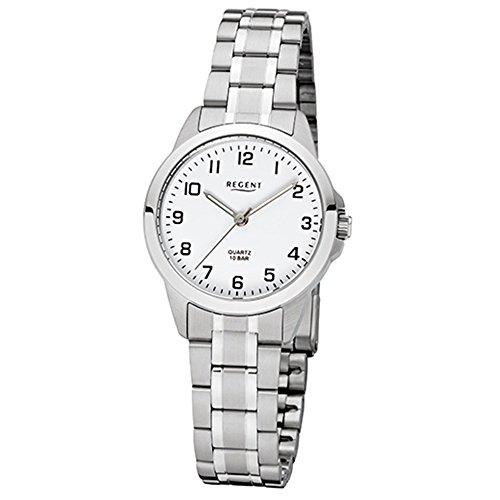 REGENT Uhr - Damenuhr mit Stahlband 10 Bar - F1003