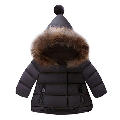 Kobay Kobay Kinder Baby Mädchen Herbst Winter Warme Jacke Mantel Oberbekleidung(6-12M,Schwarz)