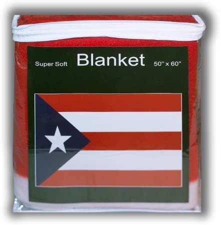 sup Puerto Rican Flag Fleece Throw BlanketNEW Rico Cover Max 87% online shopping OFF