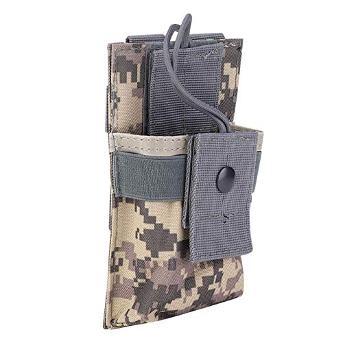 BOLORAMO Molle Vests Camouflage Walkie Talkie Bag Walkie Talkie Pouch Nylon Breathable,for Outdoor(ACU)