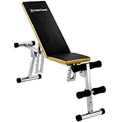 Gold Coast Weightlifting Exercise Bike Adjustable Collapsible Sit Up Fitness Sport Weight Bench