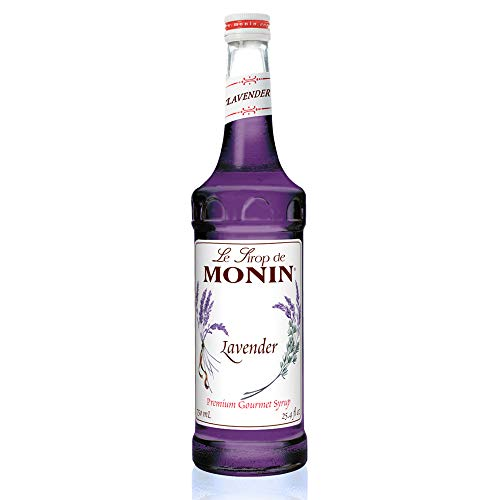 Monin - Lavender Syrup, Aromatic and Floral, Natural Flavors, Great for Cocktails, Lemonades, and Sodas, , Non-GMO, Gluten-Free (750 ml)