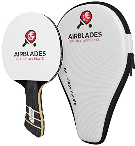 AB-6000 6 Star Professional Ping Pong Paddle for Indoor and Outdoor Table Tennis with Carry Case