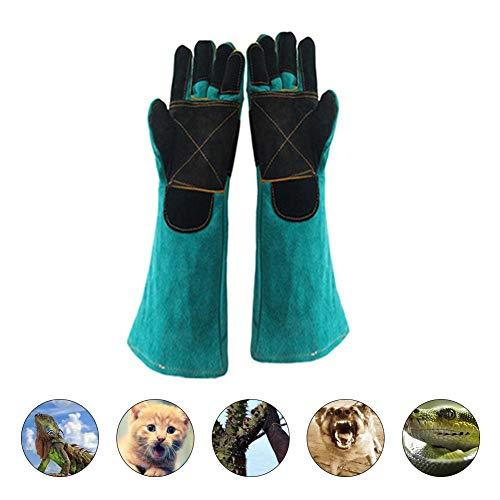 Anti-Bite Sicherheit Tier Bissfeste Handschuhe Training Strength Two Layer Leder Stützpolster Rücken Hund Katze Schneidfeste Anti Dornen Pet Handschuhe Arbeitshandschuhe