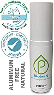 PUREFY Deodorant Spray - Hypoallergenic, Aluminum Free, Non-Irritating with No Residue, Unscented. Safe for Clothes. Not an Antiperspirant. Deodorant for Men and Women (50ml)