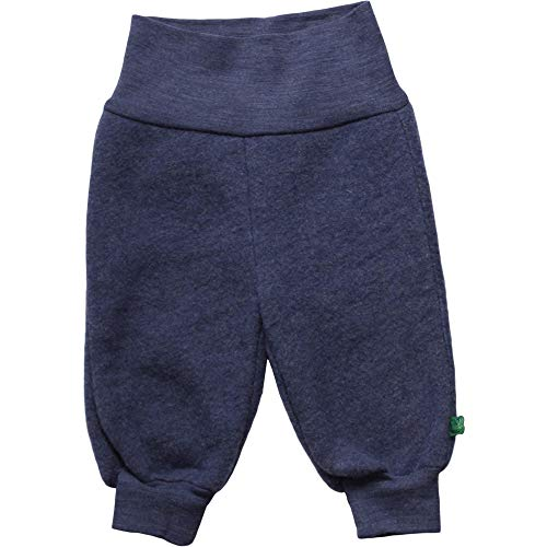 Fred's World by Green Cotton Unisex Baby Wool Fleece Pants Hose, Blau (Navy Melange 207680001), (Herstellergröße: 74)