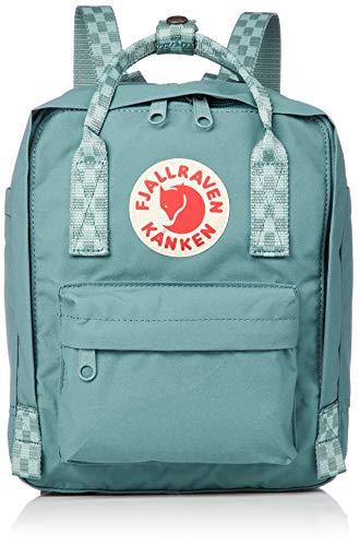FJÄLLRÄVEN Kånken Mini Backpack, Frost Green-Chess Pattern, 20 x 13 x 29 cm/7 Litre