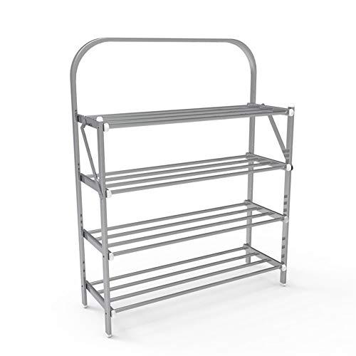 JISHIYU Estantería plegable de 4 niveles para zapatos, estante de almacenamiento de plantas, estante organizador de almacenamiento, pasillo, dormitorio, baño, sala de estar, estante de almacenamiento