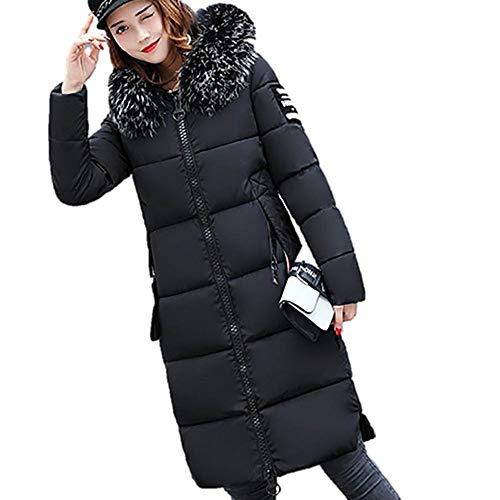 LoveLeiter Frauen-feste beiläufige dickere Winter nehmen unten Jacken-Mantel-Mantel ab(schwarz,XXXL)
