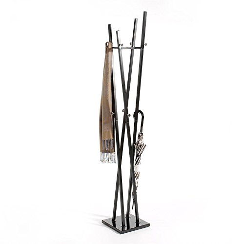 IDIMEX Kleiderständer Garderobenständer Kleiderstange Garderobe Vitus Metall schwarz lackiert