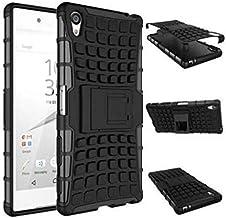 حافظة واقي عالي الجودة من Calans لهاتف Sony Xperia Z5 Premium Z5 Plus HDS Series بطبقة مزدوجة مضاد للصدمات مع واقي للشاشة أسود