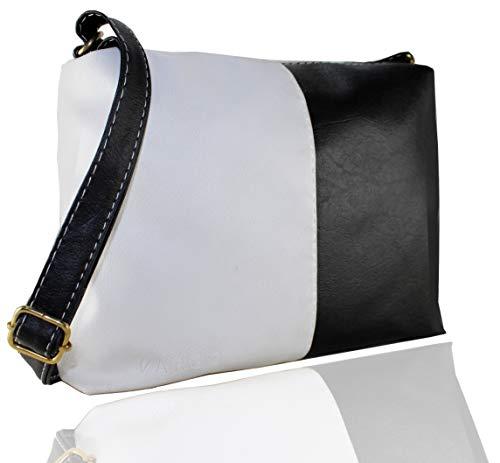 Fargo Pop PU Leather Women's And Girl's Shoulder Handbag & Sling Bag Combo Of 2 (Black,White_FGO-179)