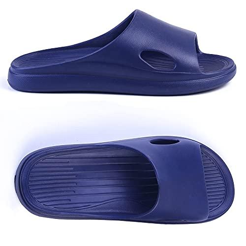 R-ISLAND Ciabatte Donna Estive Scarpe da Spiaggia Piscina Bagno Doccia Pantofole Sandali a Punta Aperta Taglia 36 – 41 (X21434 Blu, numeric_38-39)
