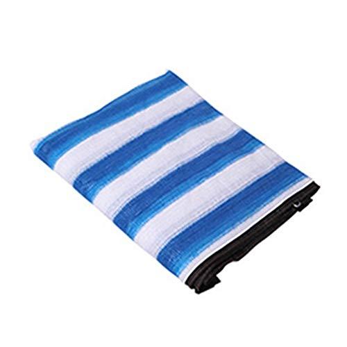 ALGFree Toldo Vela De Sombra Rectangular Al Aire Libre Red De Sombreado Protector Solar Anti-Ultravioleta Aislar El Calor Balcón Patio Azul Verde Y Blanco Franja (Color : C, Size : 8×8m)