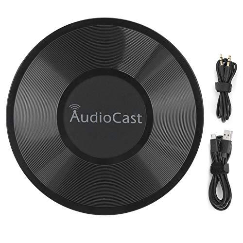 Audio Streamer Soporte de Cambio de Nombre Reproductor de música inalámbrico, Transmisor de música inalámbrico, Carcasa de ABS Negro para Audio de Auriculares de 3,5 mm para iOS, para