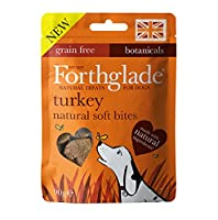 FORTHGLADE DOG TREATS: 8 x 90g bags of Turkey Soft Bites designed to help nourish the relationship between you and your four-legged friend in between mealtimes. For dogs aged 2 months+ NATURAL INGREDIENTS: Made using natural ingredients, bursting wit...