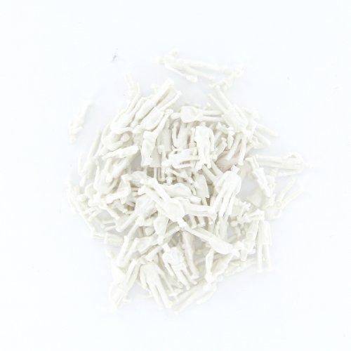 100 pcs blanc grisâtre modèle de former des personnes à l'échelle HO TT chiffres (1 à 100)