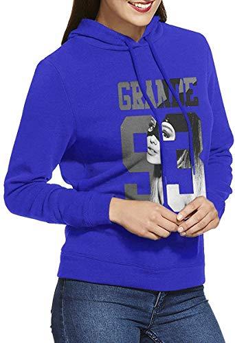 Damen Kapuzenpullover Keine Taschen Ariana Sängerin Grande Trendy Casual Style Blue S