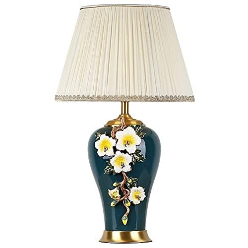 CHENZA Lámpara de Mesa Moderna Dormitorio Estudia Lámpara de Cama Lámpara Europea Lámpara de Mesa de cerámica Estilo Chino Estilo Esmalte Color Sitio de Muestra (Size : 2)