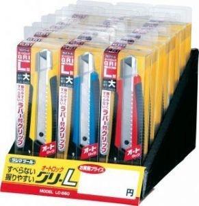 タジマ(Tajima) カッター オートロック グリ-L ミニコン クリアケース入り ディスプレイセット
