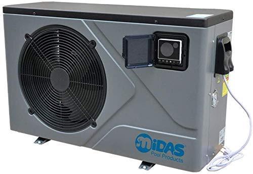 well2wellness Pool Wärmepumpe Full-Inverter Mida.Joy 7- Poolheizung mit Einer Heizkapazität bis 6,8 kW Plus Abdeckplane