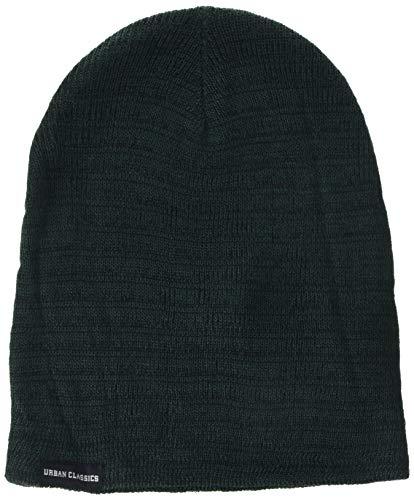 Urban Classics Melange Beanie Bonnet, Multicolore (Forestgreen/blk 00441), Taille Unique Mixte
