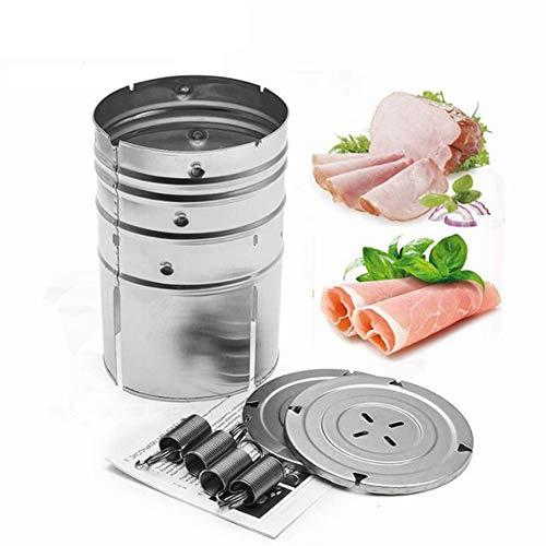 Samtlan Jamon de Acero Inoxidable de Forma Redonda Herramientas de Aves Carne Mariscos de Coccion de Cocina