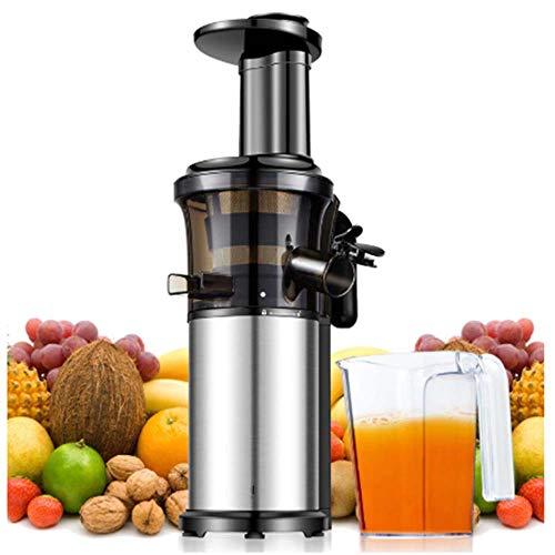 WXYLYF Langsam Juicer Tragbarer Vertikal Cold Press Juicer, mit Reverse-Funktion, BPA-frei Brechsaftpresse, geeignet für Gemüse und Früchte