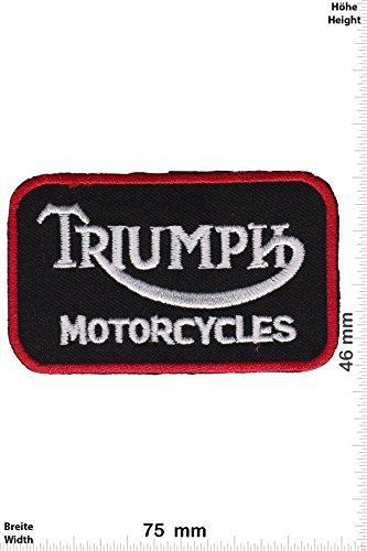 Patch - Triumph Motorcycles - schwarz rot - Motorrad - Motorrad - Triumph - Aufnäher - zum aufbügeln - Iron On