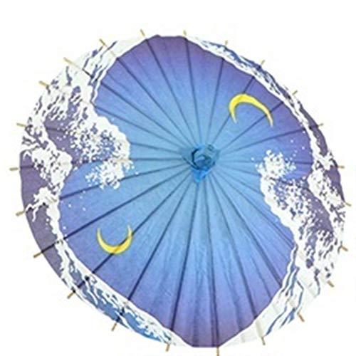 Regenschirm Hochzeit Regenschirm Handgemachte Hochzeit Dekoration Aus Holz Kleidung Accessorie Japanischen Papierschirm-Tropfen-Verschiffen (Color : 3)