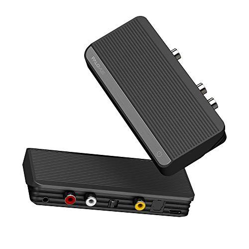 PALOVUE Bluetooth 5.0 Audioadapter, Bluetooth HiFi-Receiver für Stereo-Lautsprecher, AUX / RCA / Optischer / Koaxialer Audioausgang für Musik-Streaming, AptX Wireless-Adapter mit Fernbedienung