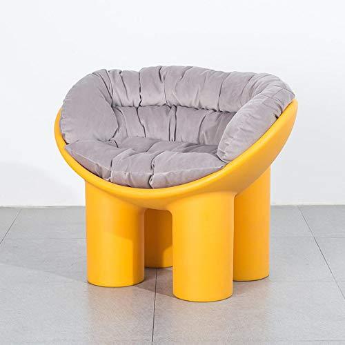 WUJNFAJFA Sofá Individual sillón balcón para el hogar sillón Creativo Funda para pies de Elefante cojín Suave Moldeado para pies Hermoso y práctico, cojín G Amarillo