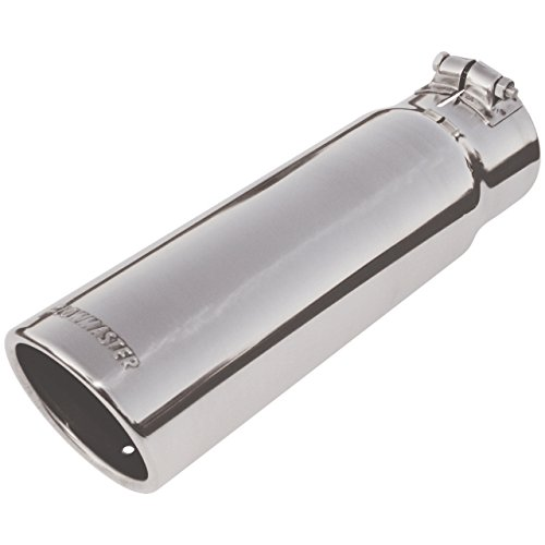 Flowmaster 15363 Exhaust Tip - 3.50 in. Rolled Angle Polished SS Fits 3.00 in. Tubing - clamp on