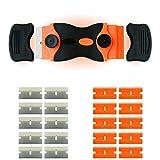 Wasila 2 en 1 | Rascador | Rascador de vitrocerámica | Rascador de cristal | Extractor de viñetas | Con cubierta de seguridad | Incluye 10 cuchillas de acero al carbono y 10 cuchillas de plástico