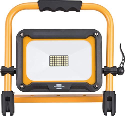 Brennenstuhl Mobiler Akku LED Strahler JARO 2000 MA / LED Baustrahler 20W für außen IP54 (LED Arbeitsleuchte mit 3 Schaltstufen, LED Arbeitsstrahler mit max. 14h Leuchtdauer, 2000lm, 6500K)