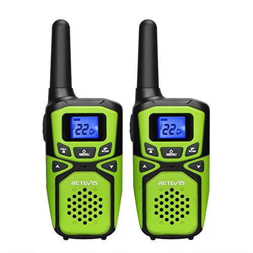 Retevis RA15 Walkie Talkies,Small Long Range Walkie Talkies for Adults,Portable Two Way Radios with NOAA Weather Alert for Family Outdoor Travel(Green,2 Pack)