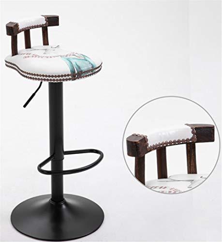 YOJDTD barkruk hoge kruk ontvangststoelen barstoelen massief houten stoelen kruk voor thuis Mr. Deer B