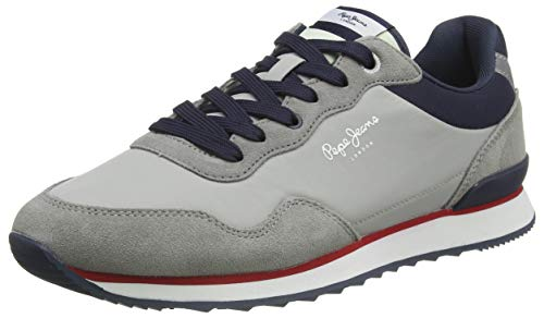 Pepe Jeans London Cross 4 Urban Zapatillas para Hombre , Gris ( 945GREY ) , 45 EU