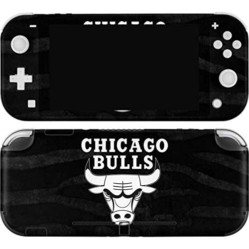 Skinit Decal Gaming Skin Compatible with Nintendo Switch Lite - Officially Licensed NBA Chicago Bulls Black Animal Print Design