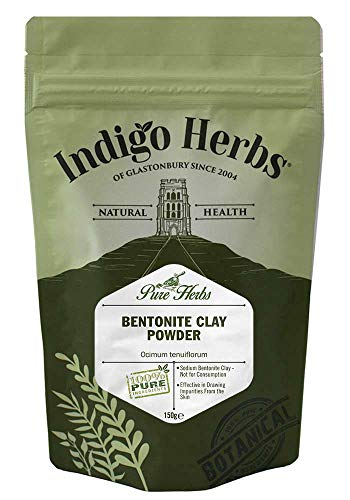 Indigo Herbs - Bentonit Tonerde Pulver - 150g