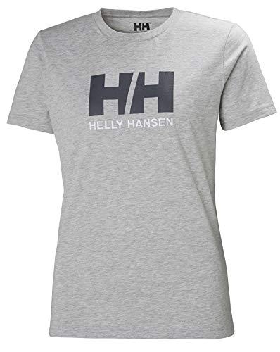 Helly Hansen HH Logo T-Shirt à Manches Courtes Femme Grey Melange FR : S (Taille Fabricant : S)