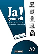 JA Genau!: Handreichungen Fur Den Unterricht A2 Band 1 & 2 by Claudia B??schel (2010-07-01)